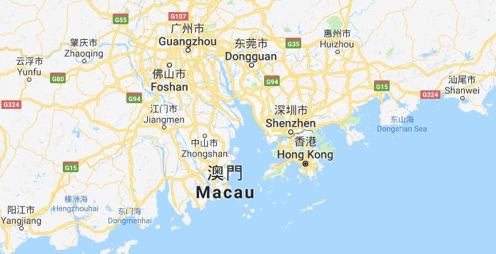 Shenzhen sijaitsee aivan Hong Kongin vieressä.